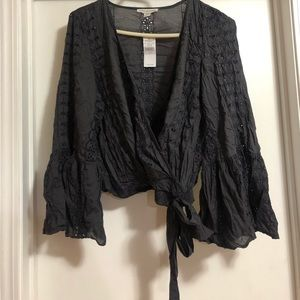 AEO Front Tie Blouse